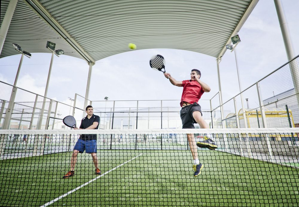 padel tennis event in canary wharf